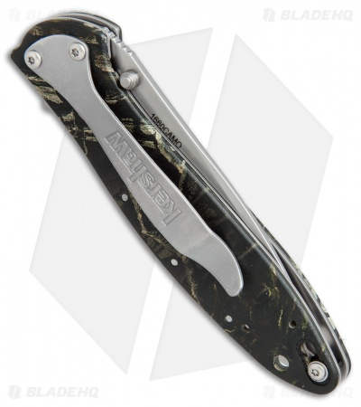 "Kershaw Leek Assisted Opening Knife Camo (3"" Bead Blast) 1660CAMO"