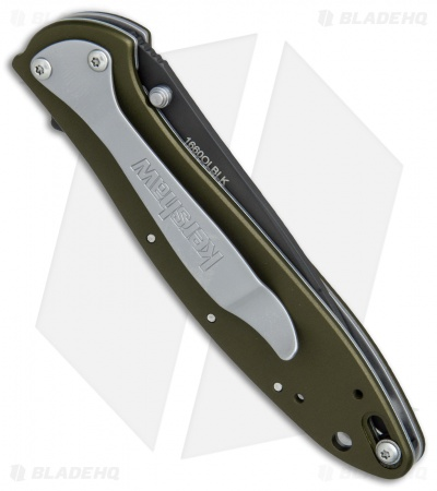 "Kershaw Leek Assisted Opening Knife OD Green (3"" Black ) 1660OLBLK"