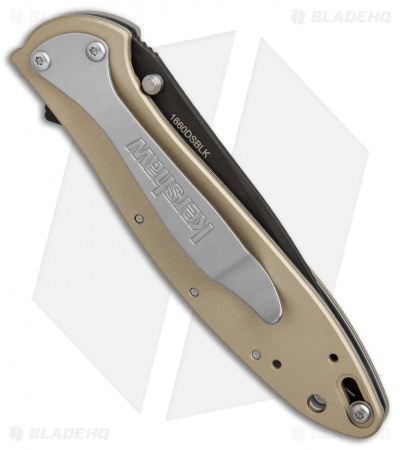 "Kershaw Leek Assisted Opening Knife Desert Sand (3"" Black) 1660DSBLK"