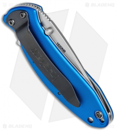 "Kershaw Scallion Assisted Opening Knife Navy Blue (2.25"" Bead Blast) 1620NB"