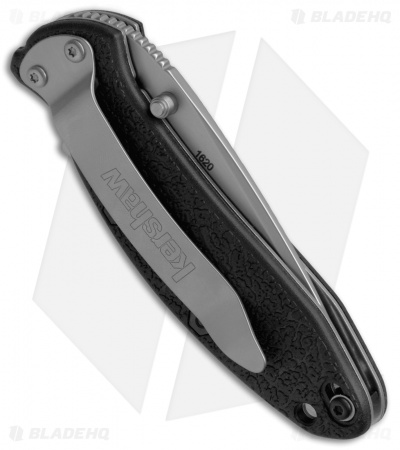 "Kershaw Scallion Assisted Opening Knife Black GFN (2.25"" Bead Blast) 1620"