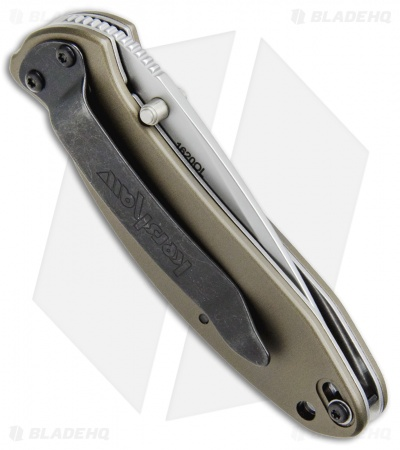 "Kershaw Scallion Assisted Opening Knife Olive Green (2.25"" Bead Blast) 1620OL"