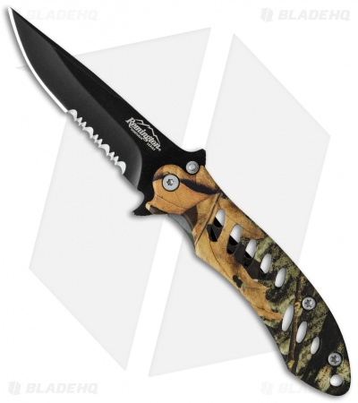"Remington FAST Medium Frame Lock Knife Camo (3.125"" Black Serr)"