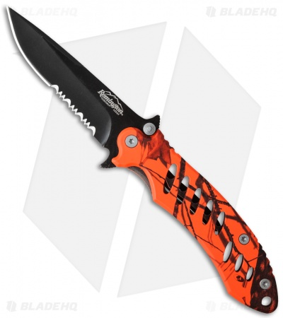 "Remington FAST Large Frame Lock Knife Orange Camo (3.75"" Black Serr)"