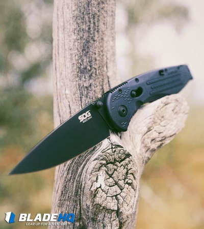 "SOG Aegis Mini Assisted Opening Knife (3"" Black) AE-22"