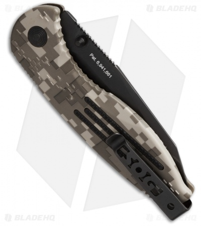 SOG Aegis Knife Spring Assisted Tanto Digi Camo (Black Serr) AE-07
