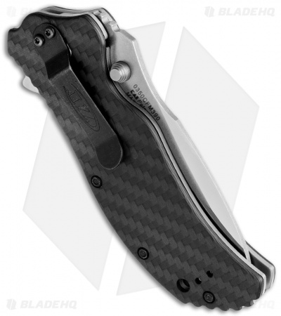 "Zero Tolerance 0350CF-M390 Assisted Opening Knife Carbon Fiber (3.25"" Satin) ZT"