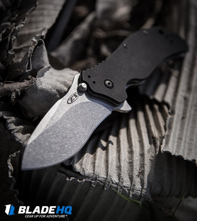 "Zero Tolerance 0350SW Assisted Opening Knife Black (3.25"" Stonewash) ZT"