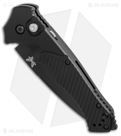 "Benchmade Rukus II Automatic Knife (3.4"" Black Serr) 9600SBK"