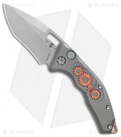 "Heretic Knives Martyr Recurve Automatic Knife Ti/Copper Gear (3"" Double Blast)"