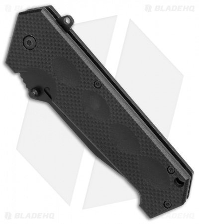 "Puma SGB Blackcat 45 Tanto Spring Assisted Knife Black G-10 (3.375"" Black)"