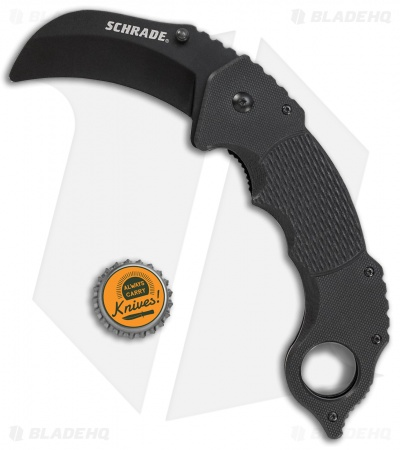 "Schrade Folding Knife Trainer Karambit Black G-10 (3"" Black)"