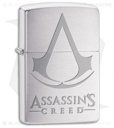 Zippo Lighter Assassin's Creed (Brushed Chrome) 13534