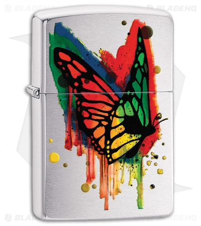 Zippo Lighter Butterfly (Brushed Chrome) 11978