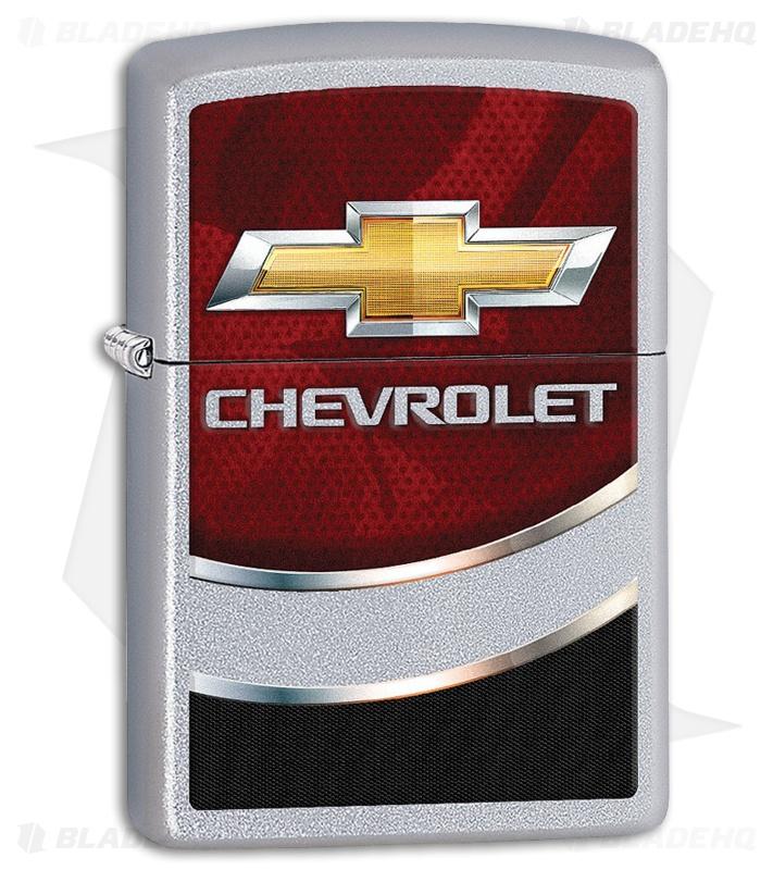 Zippo Lighter Chevrolet Bowtie Logo (Satin Chrome) 11839