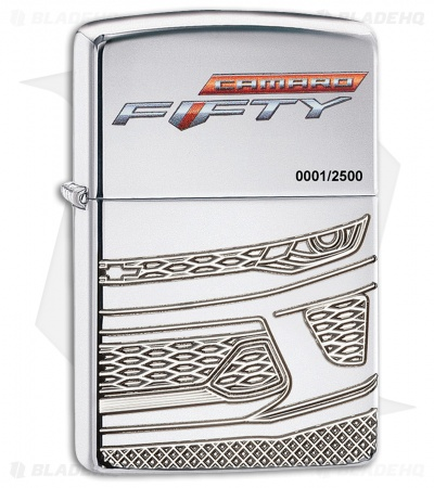 Zippo Lighter Chevy Camaro 50th Anniversary (High Polished Chrome) 12354