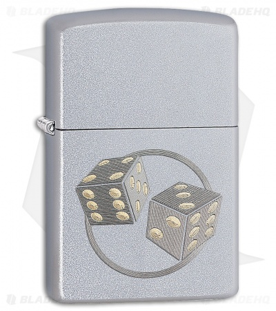 Zippo Lighter Dice (Satin Chrome) 12294