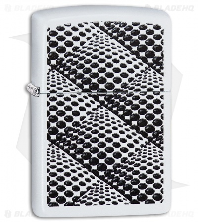 Zippo Lighter Dots and Boxes (White Matte) 12301