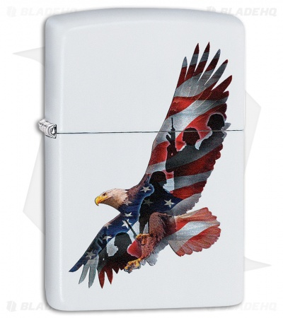 Zippo Lighter Eagle (White Matte) 12303