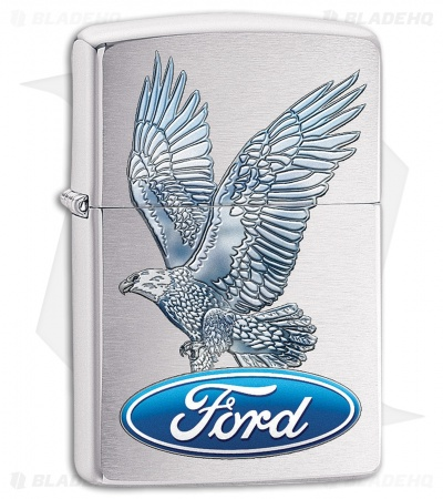Zippo Lighter Ford Eagle (Brushed Chrome) 11821