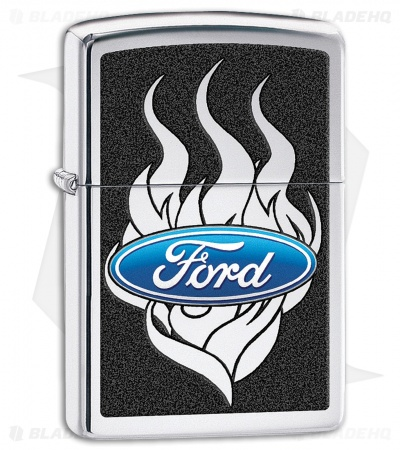 Zippo Lighter Ford Flames (High Polish Chrome) 11822