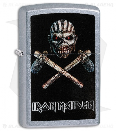 Zippo Lighter Iron Maiden Eddie (Street Chrome) 12329