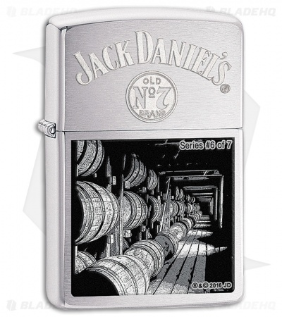 Zippo Lighter Jack Daniels Scene Series 6 (Brushed Chrome) 11589