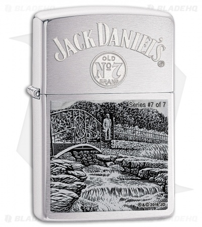 Zippo Lighter Jack Daniels Scene Series 7 (Brushed Chrome) 11591