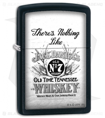 Zippo Lighter Jack Daniels There's Nothing (Black Matte) 11817