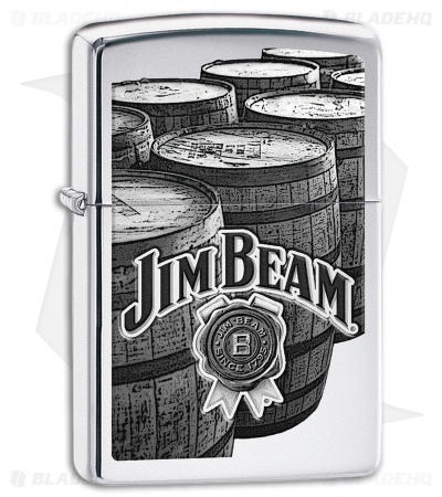 Zippo Lighter Jim Beam Barrels (High Polish Chrome) 11841