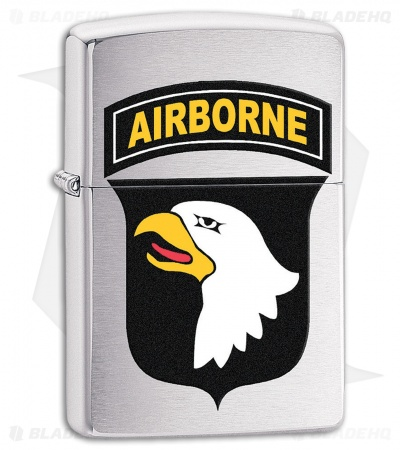 Zippo Lighter US Army 101st Airborne (Bushed Chrome) 11597