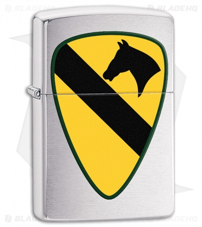 Zippo Lighter US Army 1st Cavalry (Brushed Chrome) 11596