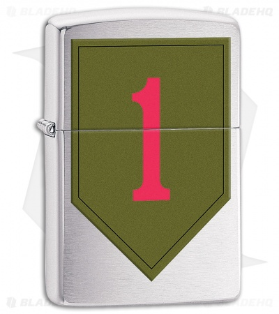 Zippo Lighter US Army 1st Infantry (Brushed Chrome) 11594
