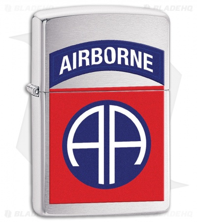 Zippo Lighter US Army 82nd Airborne (Brushed Chrome) 11593