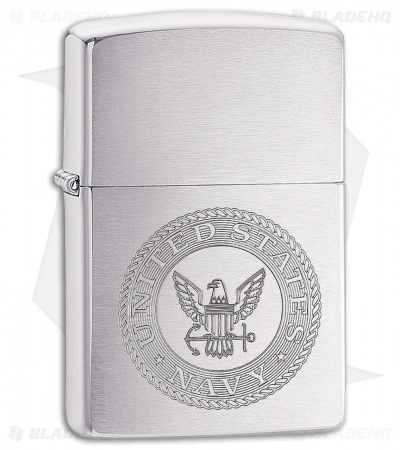 Zippo Lighter US Navy Seal (Brushed Chrome) 11897