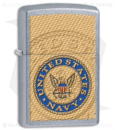 Zippo Lighter US Navy (Street Chrome) 11896