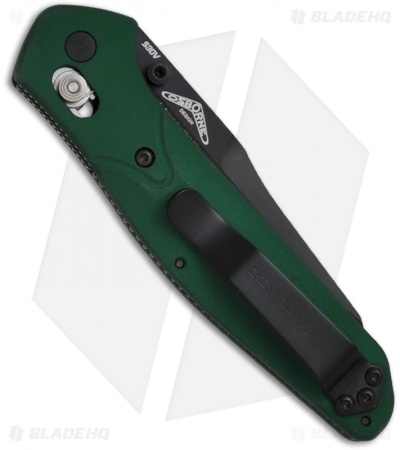 "Benchmade 940 Osborne AXIS Lock Knife Green (3.4"" Black) 940BK"