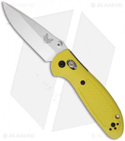 "Benchmade Mini Griptilian Knife Yellow (2.91"" Satin Plain) 556-YEL"
