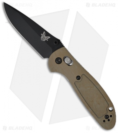 "Benchmade Mini Griptilian AXIS Lock Knife Sand (2.91"" Black) 556BKSN"