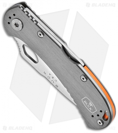 "Buck SpitFire Lockback Knife Gray (3.25"" Satin) 0722GYS1"