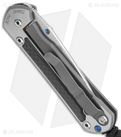 "Chris Reeve Small Sebenza 21 Knife Carbon Fiber Inlay (2.94"" Polished) Exclusive"