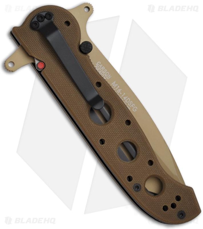 CRKT Carson M16-14DSFG Tanto Flipper Knife Desert Tan G-10 (3 875