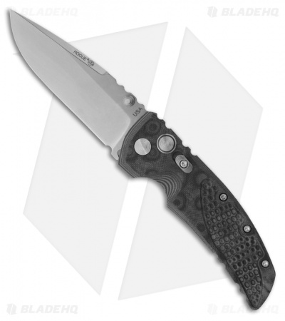 "Hogue Knives EX01 Knife Black G10 Handle  Drop Point Blade (3.5"" Tumble Plain)"