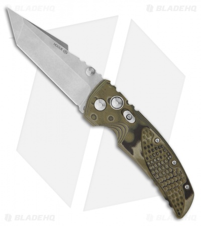 "Hogue Knives EX01 Knife Green G10 Handle Tanto Blade (3.5"" Tumble Plain)"