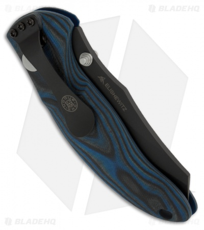 "Hogue Knives EX04 Wharncliffe Knife Blue Lava GMascus (3.5"" Plain) 34463"