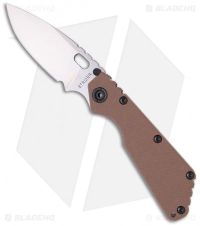 "Strider SMF Knife Coyote Brown G-10 (3.9"" Stonewash)"