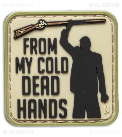 "Maxpedition 1.5"" x 1.5"" Cold Dead Hands PVC Patch (Arid)"