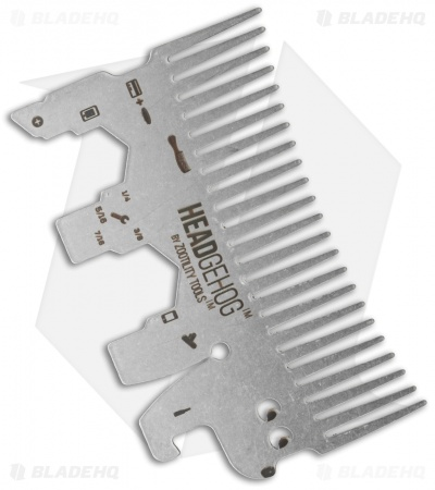 Headgehog Wallet Comb Stainless Steel Multi-Tool (Silver) HH1