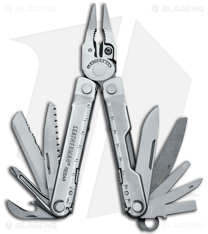 Leatherman Rebar Silver Multi Tool W Leather Sheath 17