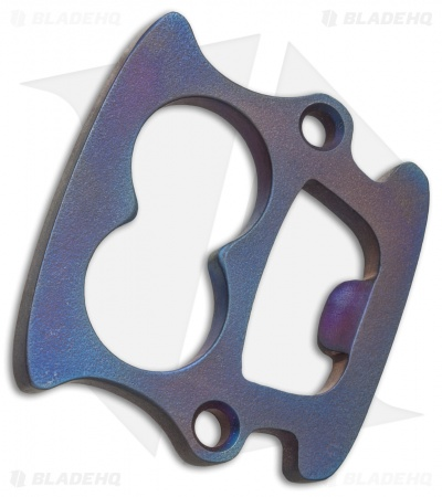 Overmountain The Olicheatman Titanium Knuckle Duster Bottle Opener (Blue)